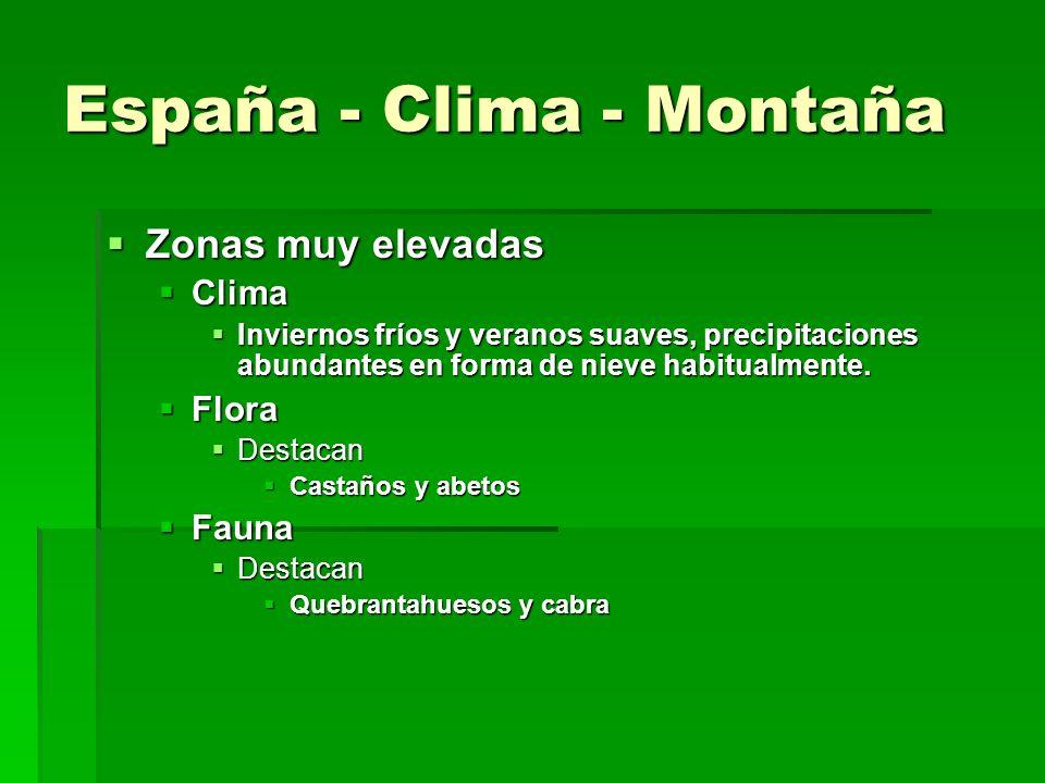 España - Clima - Subtropical Islas Canarias Islas Canarias Clima Clima Suaves y con precipitaciones escasas y torrenciales Suaves y con precipitacione