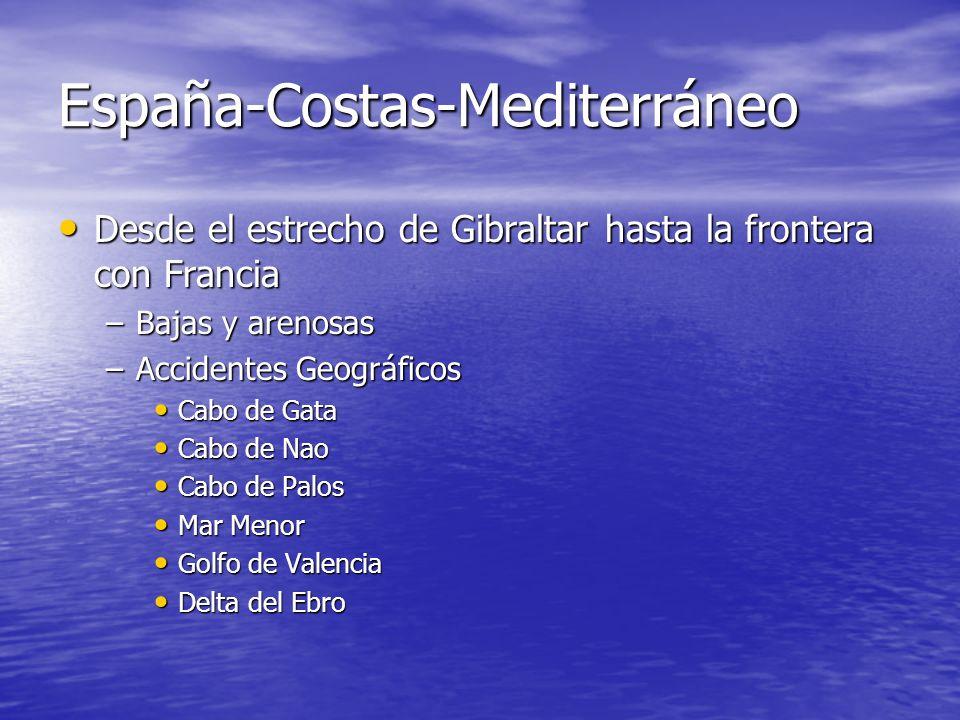 España-Costas-Atlántica Costa Gallega Costa Gallega –Alta, rocosa y recortada –Accidentes Geográficos Cabo Fisterra Cabo Fisterra Cabo Touriñán Cabo T