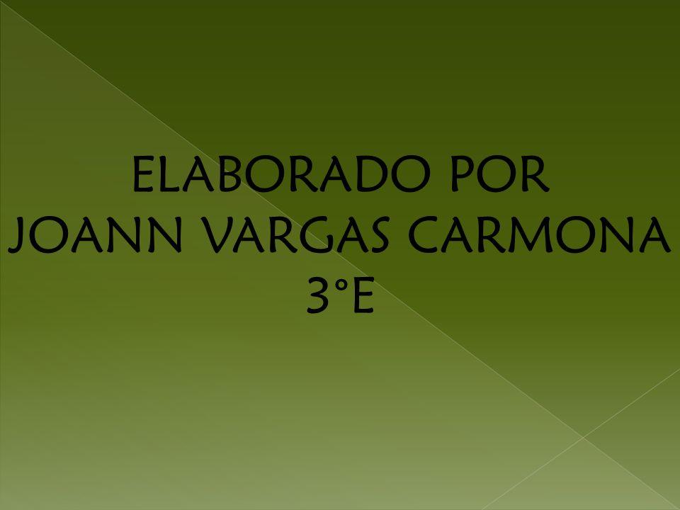 ELABORADO POR JOANN VARGAS CARMONA 3°E