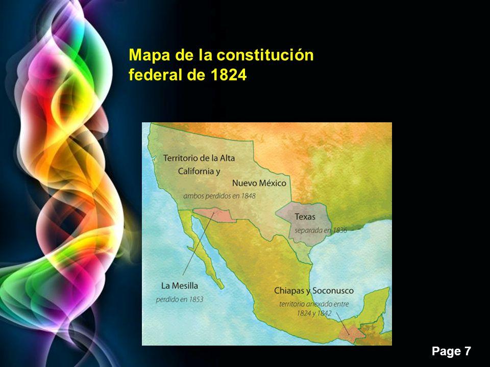 Page 7 Mapa de la constitución federal de 1824