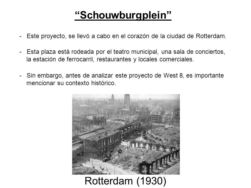 - Este proyecto, se llevó a cabo en el corazón de la ciudad de Rotterdam. Schouwburgplein - Esta plaza está rodeada por el teatro municipal, una sala
