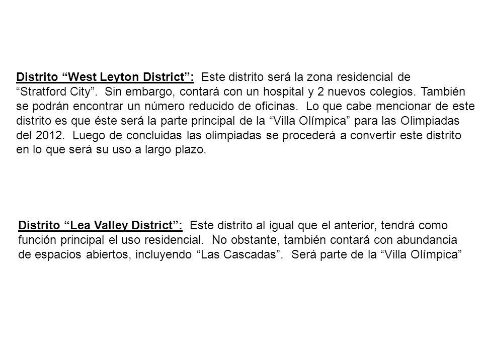 Distrito West Leyton District: Este distrito será la zona residencial de Stratford City. Sin embargo, contará con un hospital y 2 nuevos colegios. Tam