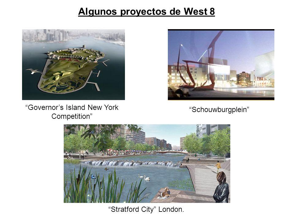 Schouwburgplein Governors Island New York Competition Stratford City London. Algunos proyectos de West 8