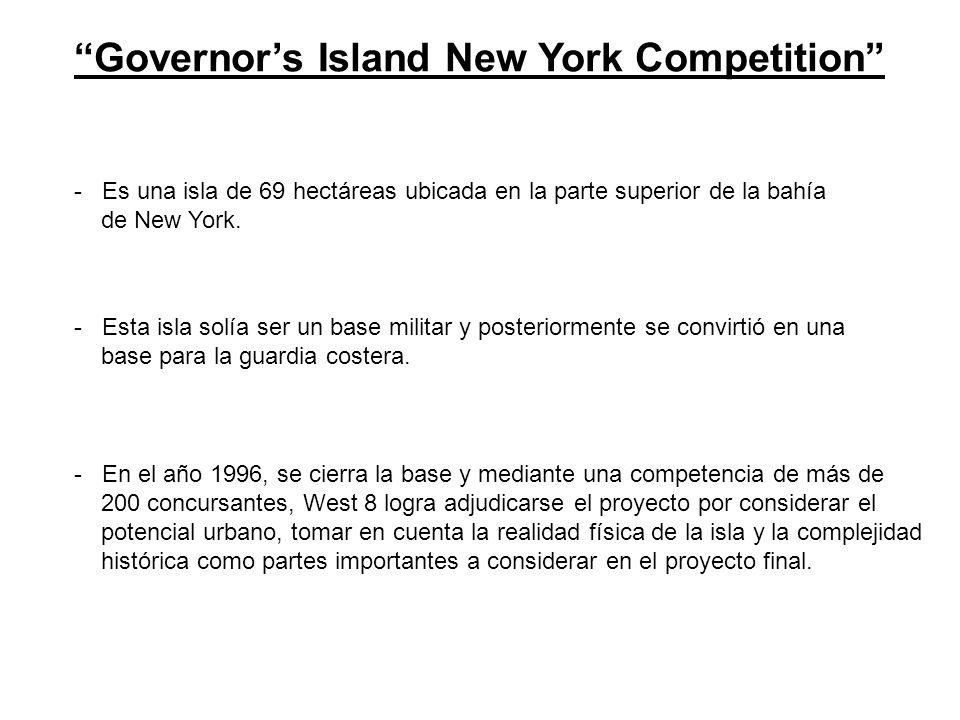 Governors Island New York Competition - Es una isla de 69 hectáreas ubicada en la parte superior de la bahía de New York. sta isla solía ser un base m
