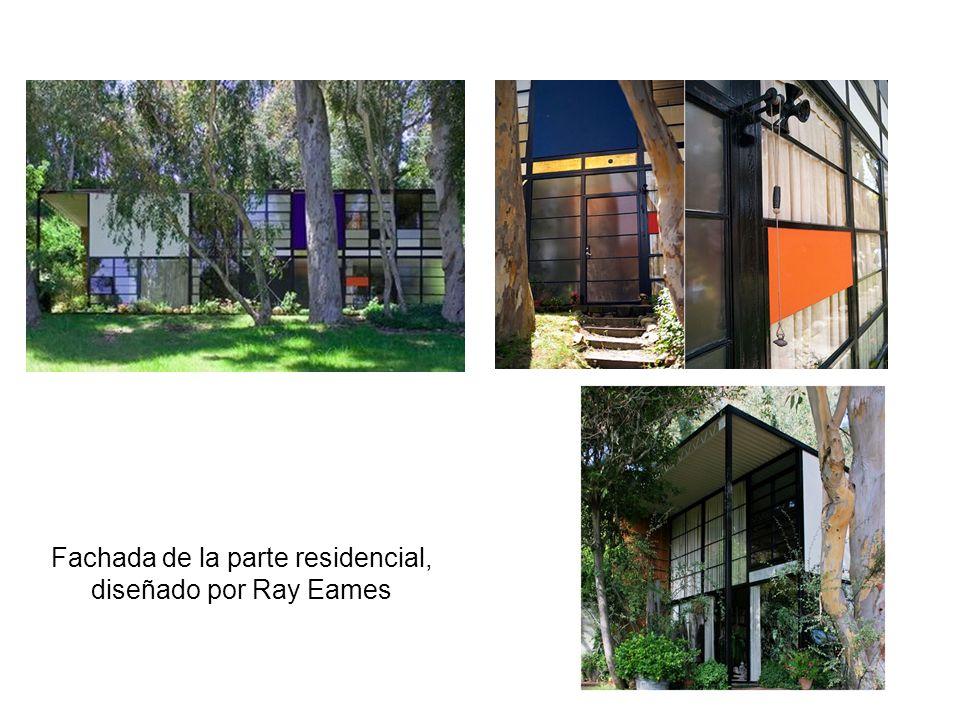 Fachada de la parte residencial, diseñado por Ray Eames