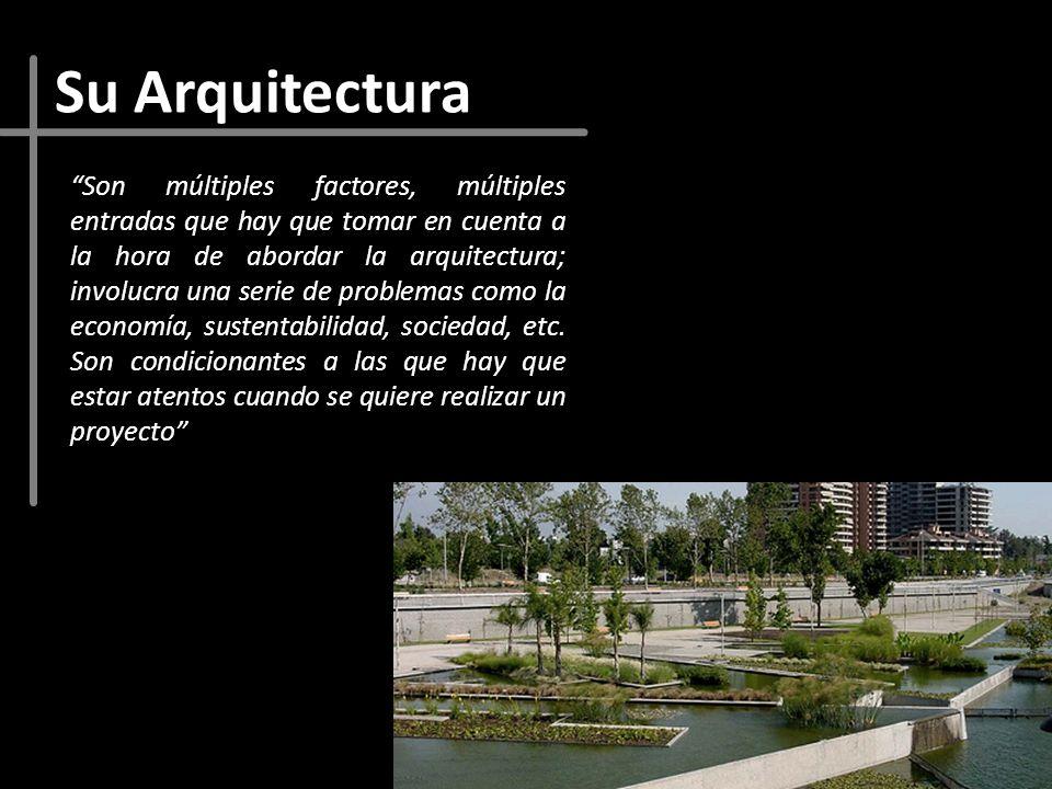 Su Arquitectura Son múltiples factores, múltiples entradas que hay que tomar en cuenta a la hora de abordar la arquitectura; involucra una serie de pr