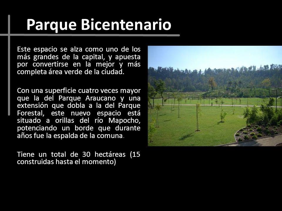 Parque Bicentenario Este espacio se alza como uno de los más grandes de la capital, y apuesta por convertirse en la mejor y más completa área verde de