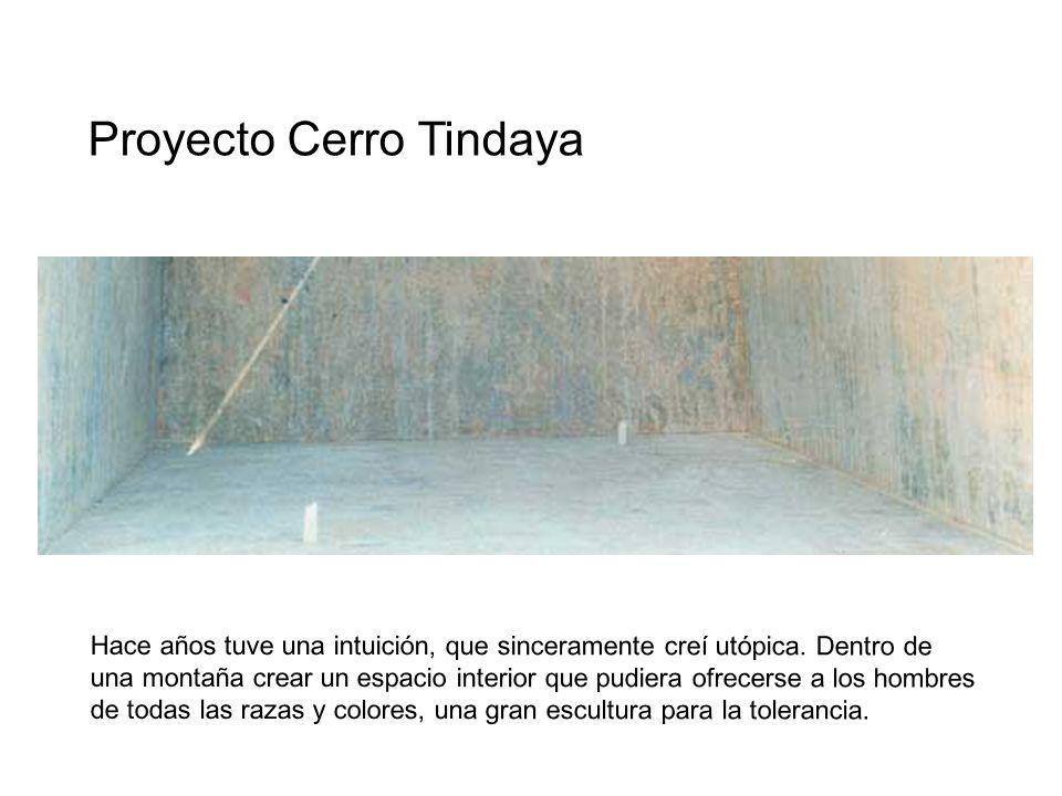 Proyecto Cerro Tindaya Hace años tuve una intuición, que sinceramente creí utópica. Dentro de una montaña crear un espacio interior que pudiera ofrece