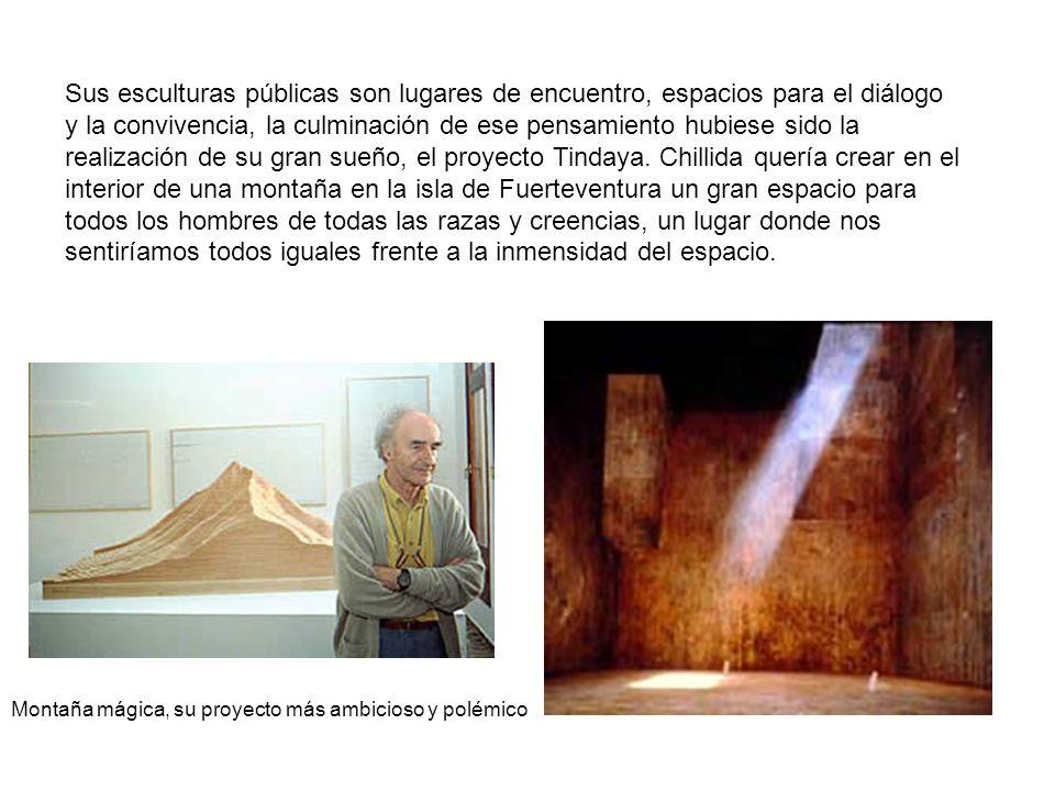 Sus esculturas públicas son lugares de encuentro, espacios para el diálogo y la convivencia, la culminación de ese pensamiento hubiese sido la realiza