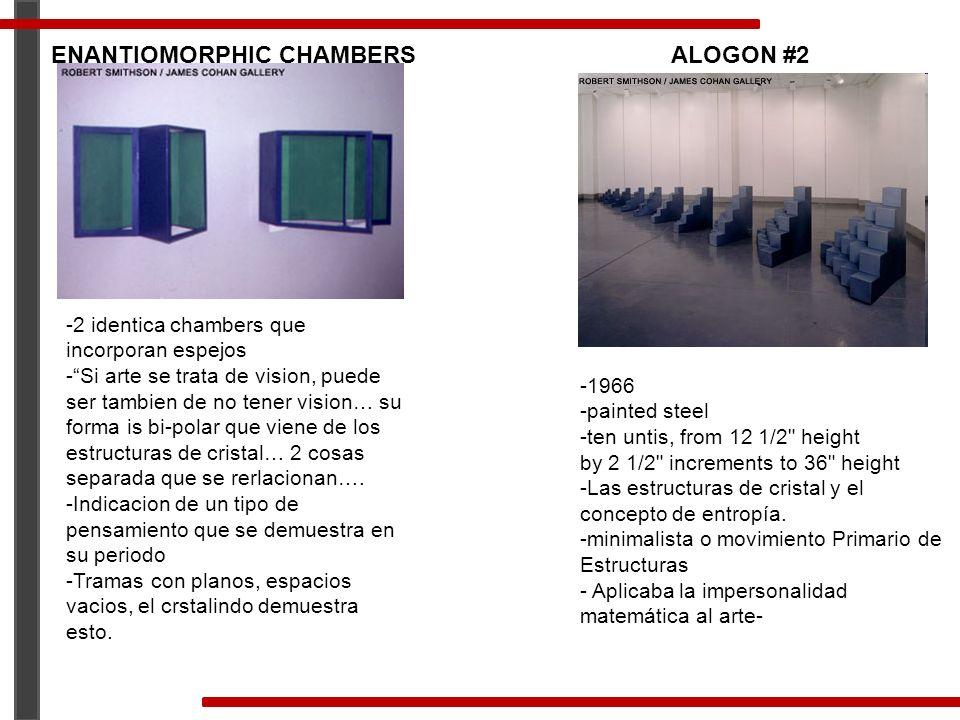 ENANTIOMORPHIC CHAMBERS -2 identica chambers que incorporan espejos -Si arte se trata de vision, puede ser tambien de no tener vision… su forma is bi-