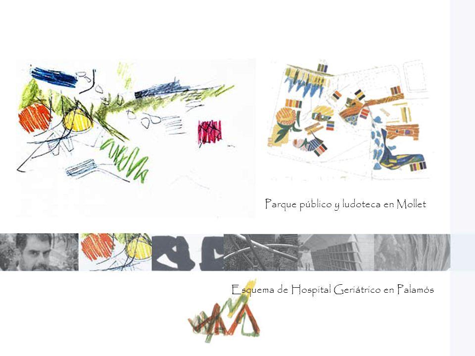 En este parque nos damos cuenta como Enric puede leer y comprender el lenguaje propio de un lugar y posteriormente los transforma y utiliza para sus obras de arquitectura.