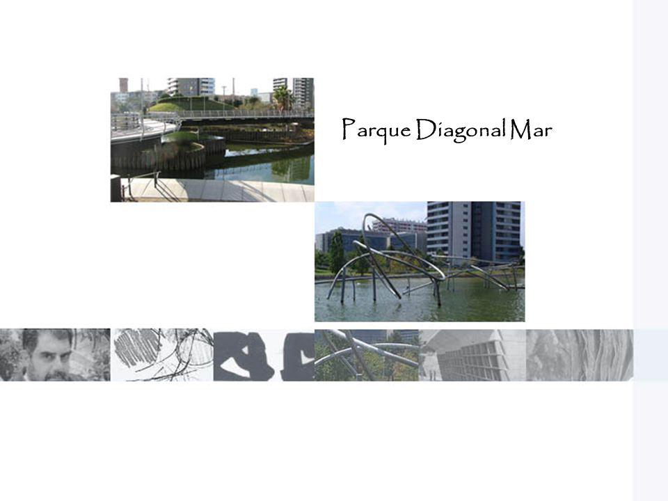 El concepto del parque diagonal mar, es un árbol que se va ramificando durante su extensión.