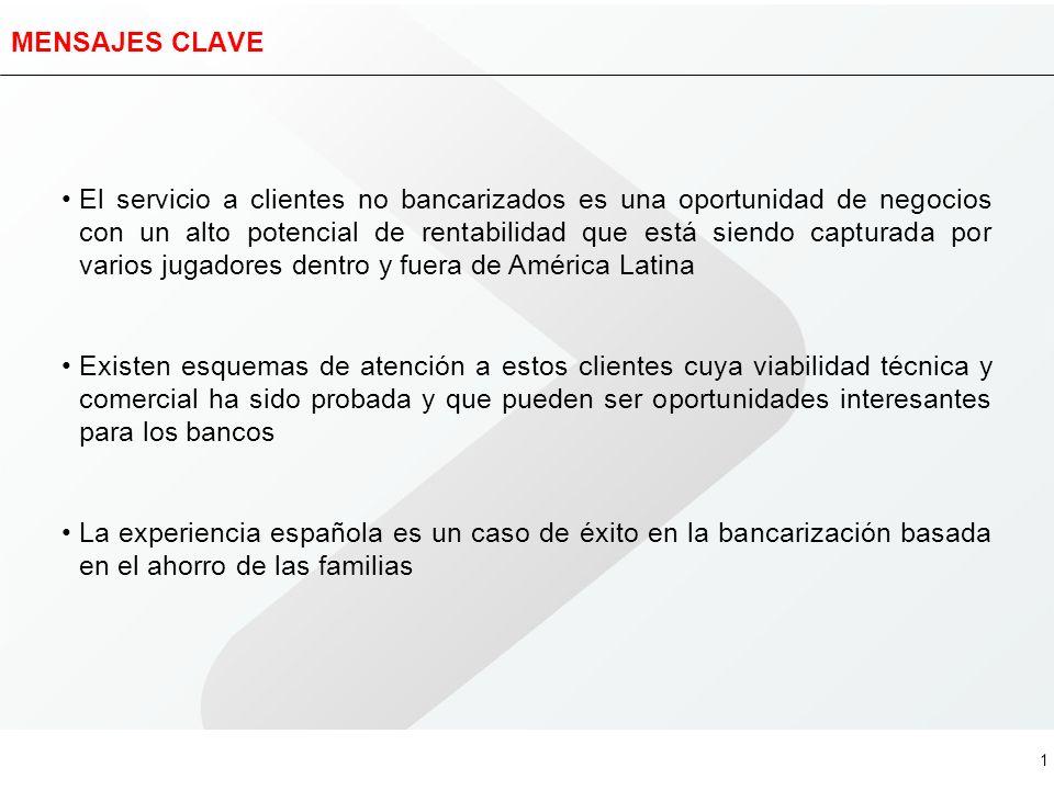 La bancarización en España Oportunidades en el segmento de no bancarizados en Latinoamérica Buenos Aires, Noviembre de 2005