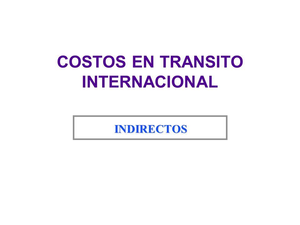Capital (Inventario) u Son los costos financieros que representa el valor total del embarque, calculados sobre la base del precio del producto en el lugar de embarque internacional del país exportador.