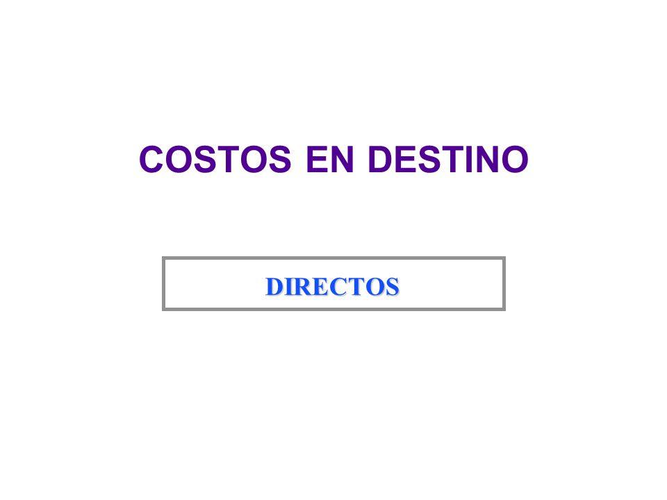 COSTOS EN DESTINO INDIRECTOS