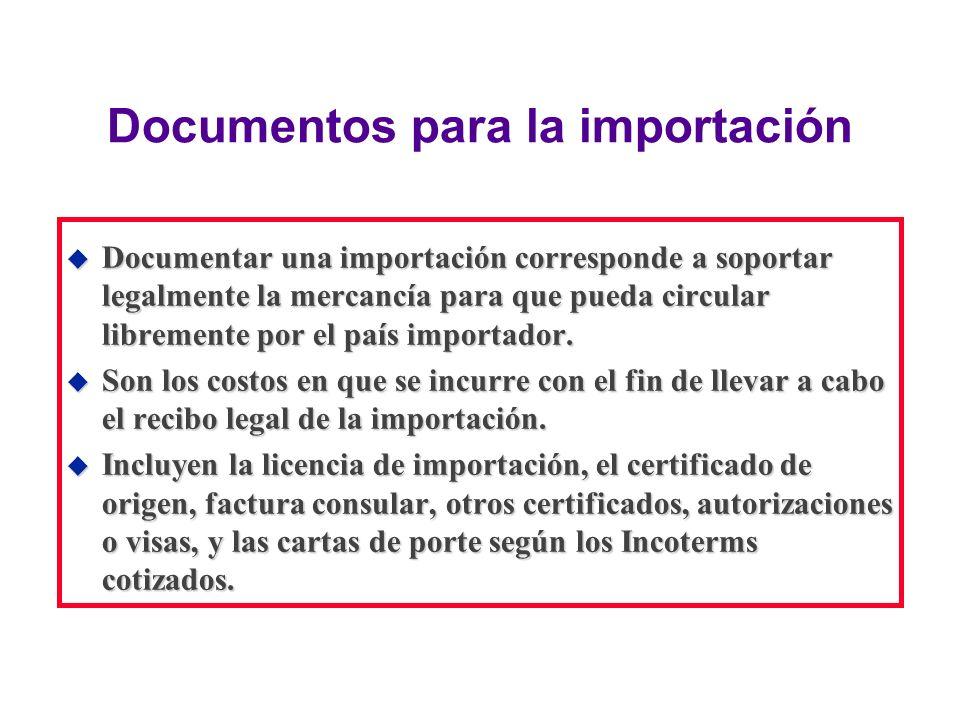 Capital (Inventario) u Son los costos financieros que representa el valor total del embarque, calculados sobre la base del precio del producto en el lugar de desembarque internacional.