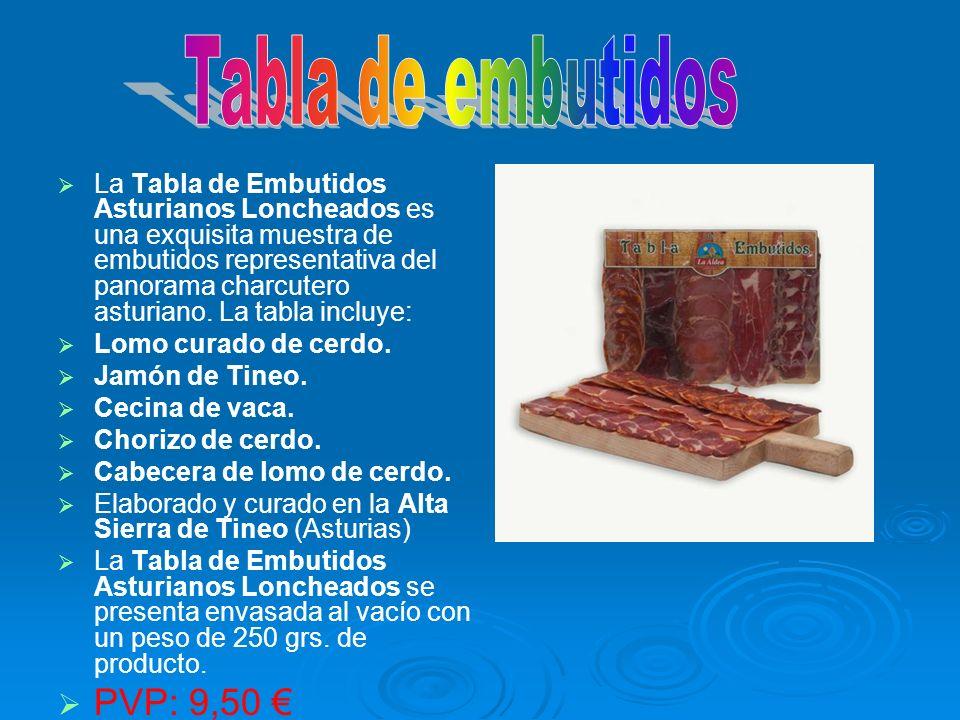 La Tabla de Embutidos Asturianos Loncheados es una exquisita muestra de embutidos representativa del panorama charcutero asturiano. La tabla incluye: