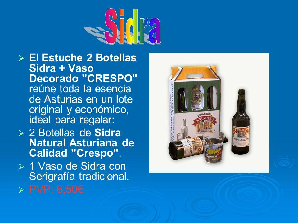 El Estuche 2 Botellas Sidra + Vaso Decorado