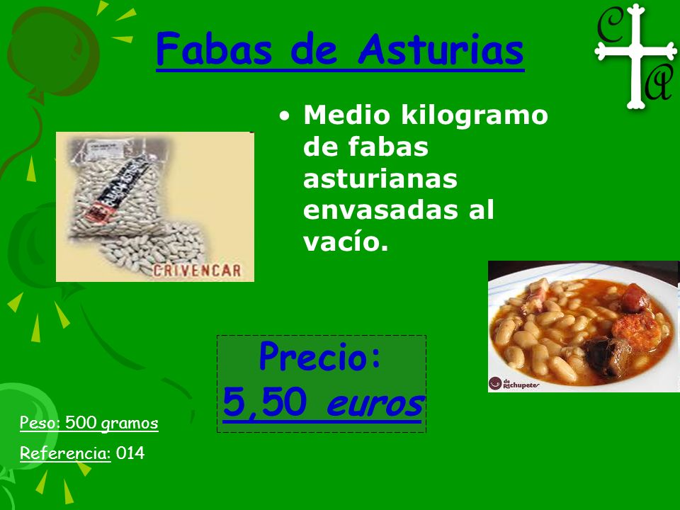 Medio kilogramo de fabas asturianas envasadas al vacío. Fabas de Asturias Peso: 500 gramos Referencia: 014 Precio: 5,50 euros