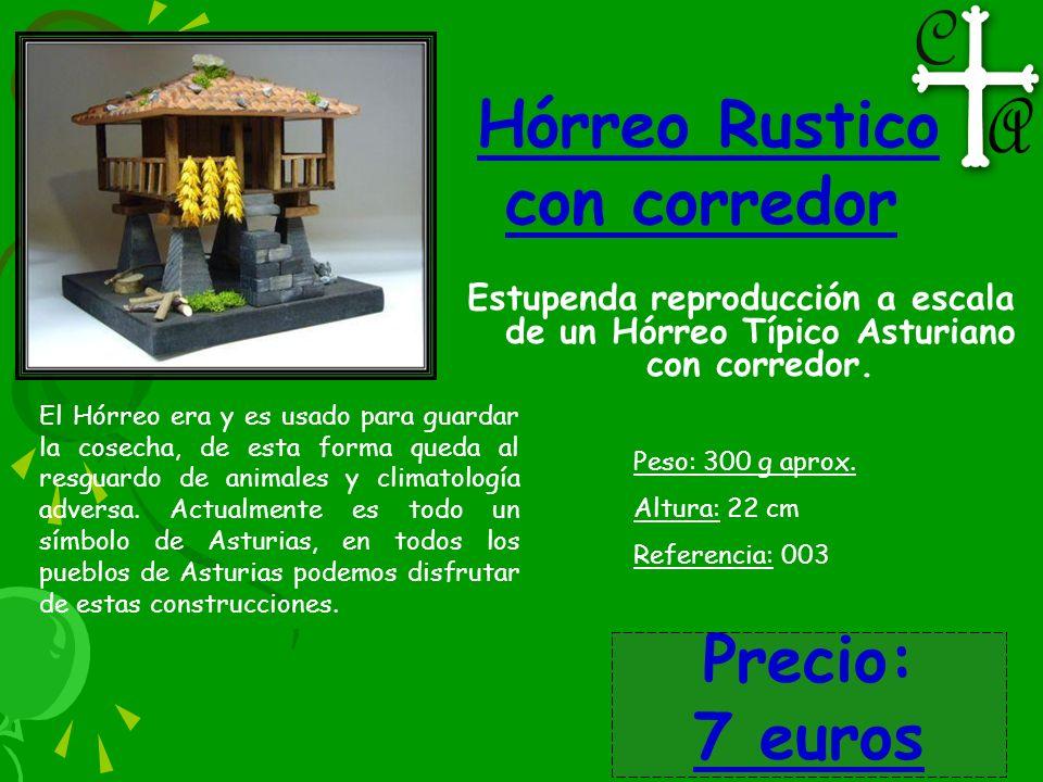 Hórreo Rustico con corredor Estupenda reproducción a escala de un Hórreo Típico Asturiano con corredor. El Hórreo era y es usado para guardar la cosec