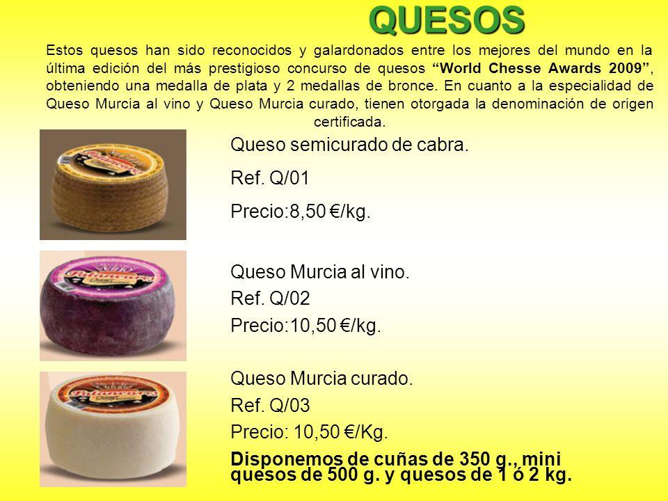 QUESOS QUESOS Estos quesos han sido reconocidos y galardonados entre los mejores del mundo en la última edición del más prestigioso concurso de quesos