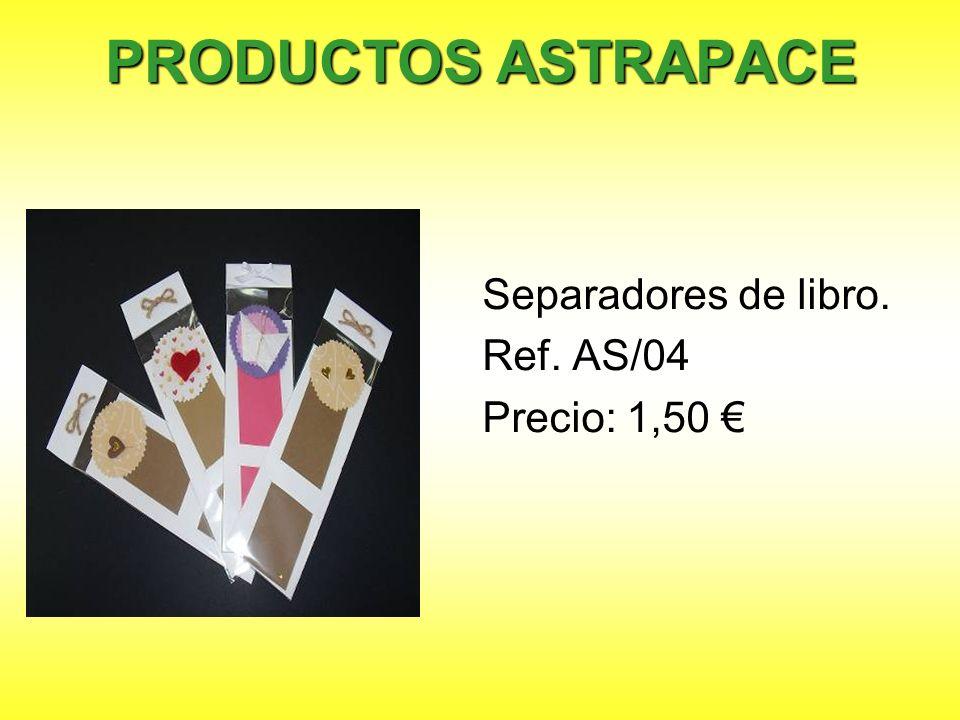 PRODUCTOS ASTRAPACE Separadores de libro. Ref. AS/04 Precio: 1,50