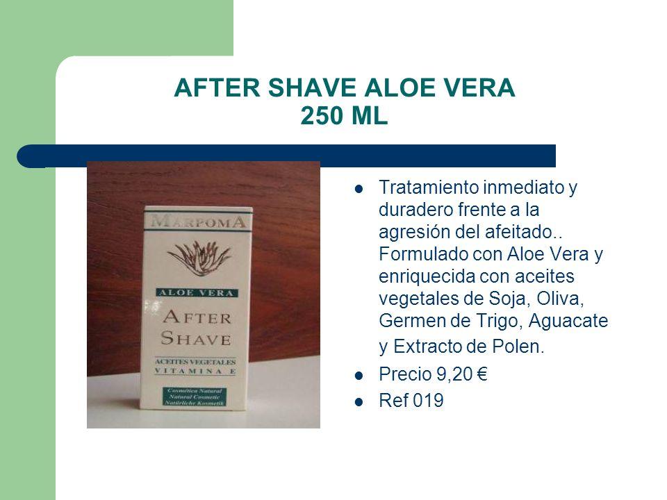 AFTER SHAVE ALOE VERA 250 ML Tratamiento inmediato y duradero frente a la agresión del afeitado.. Formulado con Aloe Vera y enriquecida con aceites ve