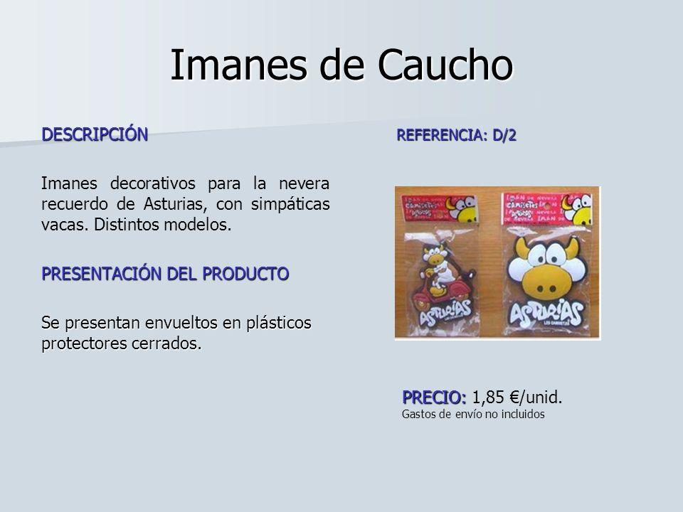 Imanes de Caucho DESCRIPCIÓN Imanes decorativos para la nevera recuerdo de Asturias, con simpáticas vacas. Distintos modelos. PRESENTACIÓN DEL PRODUCT