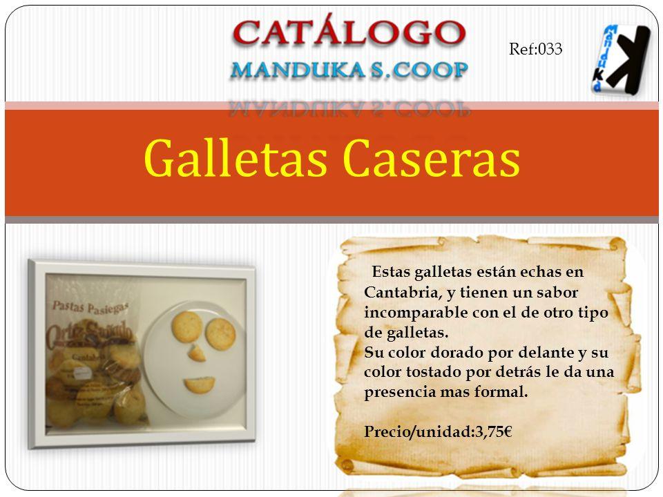 Estas galletas están echas en Cantabria, y tienen un sabor incomparable con el de otro tipo de galletas. Su color dorado por delante y su color tostad