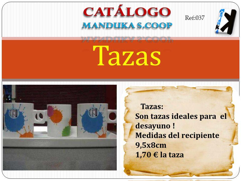 Tazas: Son tazas ideales para el desayuno ! Medidas del recipiente 9,5x8cm 1,70 la taza Tazas Ref:037
