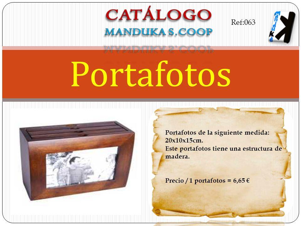 Portafotos de la siguiente medida: 20x10x15cm. Este portafotos tiene una estructura de madera. Precio / 1 portafotos = 6,65 Portafotos Ref:063