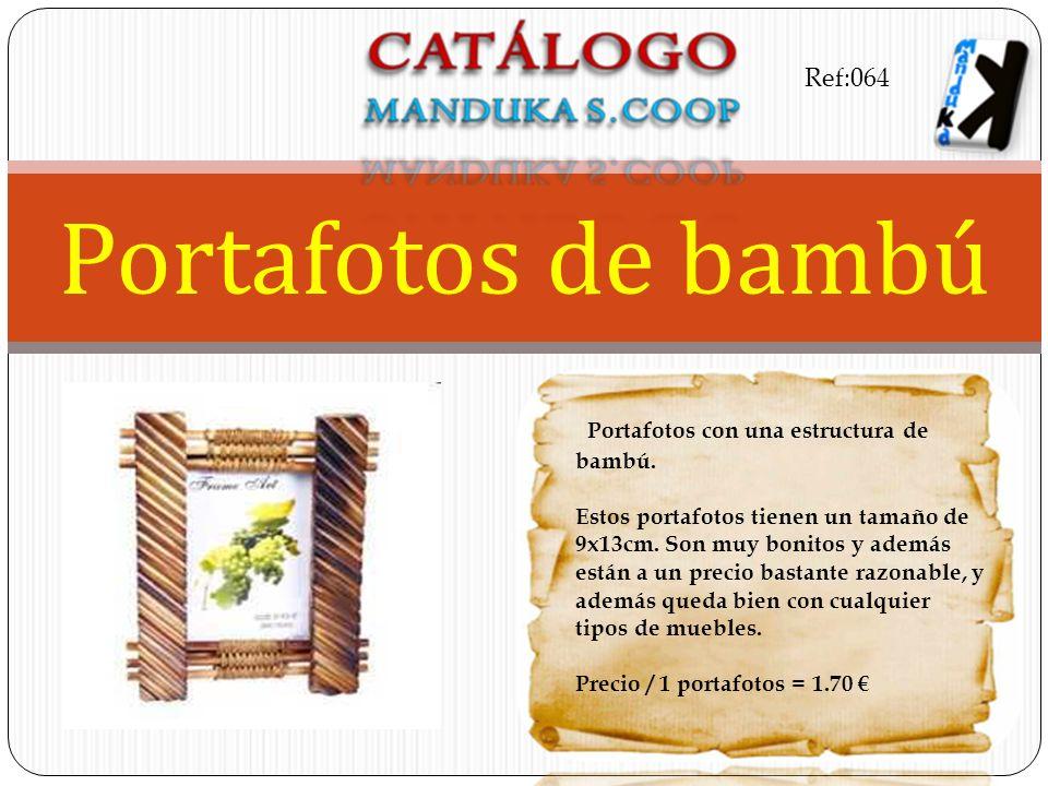Portafotos con una estructura de bambú. Estos portafotos tienen un tamaño de 9x13cm. Son muy bonitos y además están a un precio bastante razonable, y