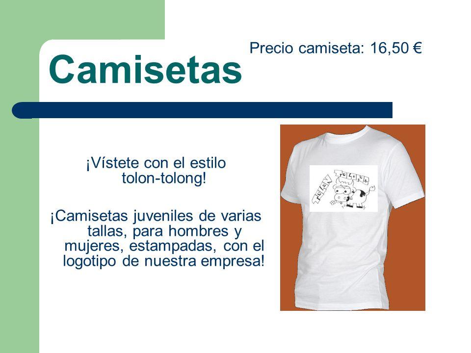 Camisetas ¡Vístete con el estilo tolon-tolong! ¡Camisetas juveniles de varias tallas, para hombres y mujeres, estampadas, con el logotipo de nuestra e