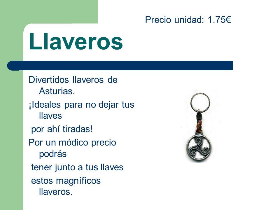 Llaveros Divertidos llaveros de Asturias. ¡Ideales para no dejar tus llaves por ahí tiradas! Por un módico precio podrás tener junto a tus llaves esto