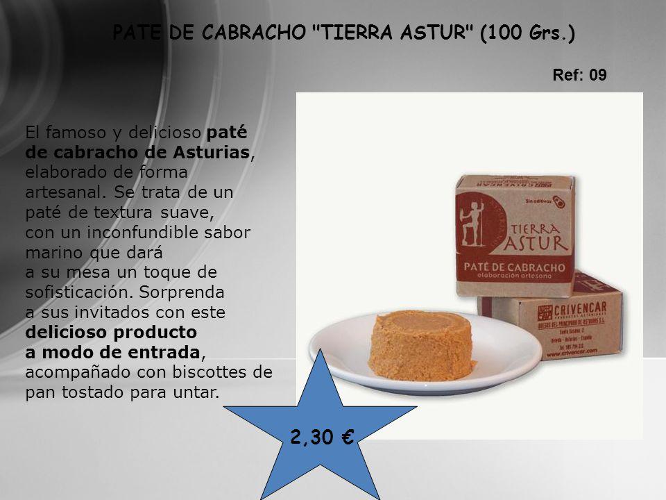 El famoso y delicioso paté de cabracho de Asturias, elaborado de forma artesanal. Se trata de un paté de textura suave, con un inconfundible sabor mar