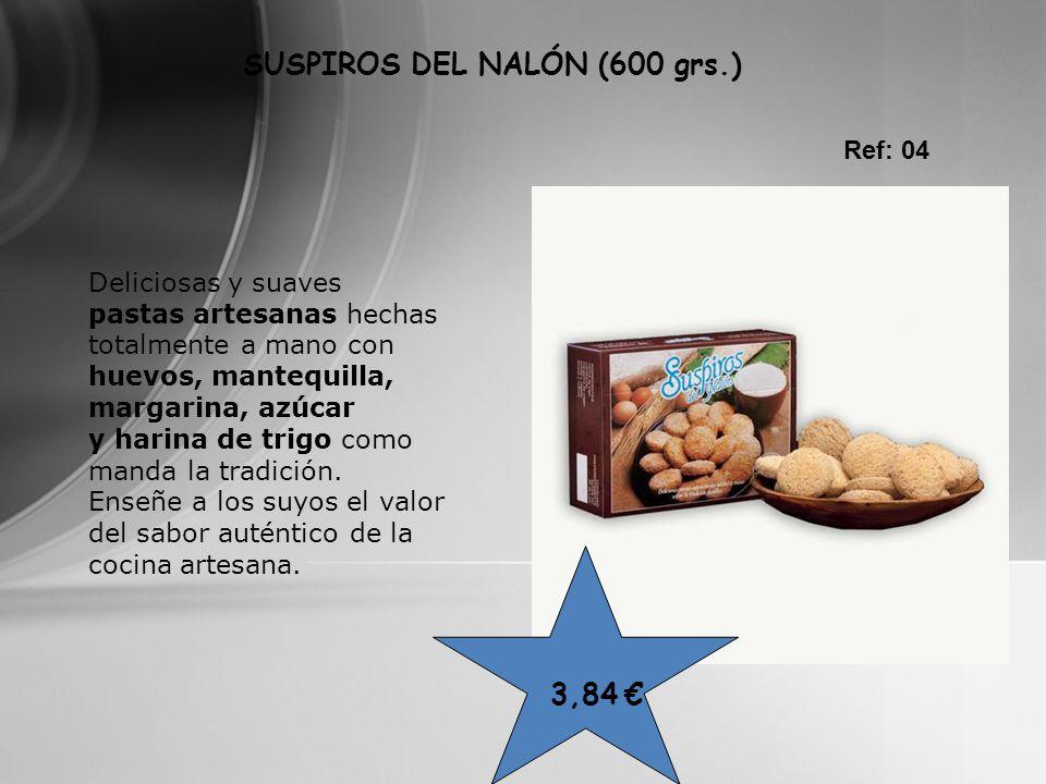 SUSPIROS DEL NALÓN (600 grs.) Ref: 04 Deliciosas y suaves pastas artesanas hechas totalmente a mano con huevos, mantequilla, margarina, azúcar y harin