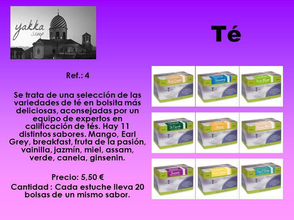 Té Ref.: 4 Se trata de una selección de las variedades de té en bolsita más deliciosas, aconsejadas por un equipo de expertos en calificación de tés.