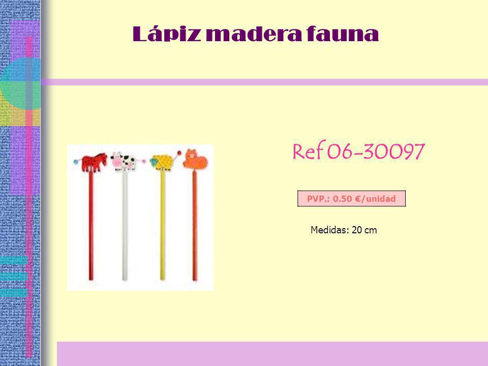 Ref 06-30097 PVP.: 0.50 /unidad Medidas: 20 cm Lápiz madera fauna