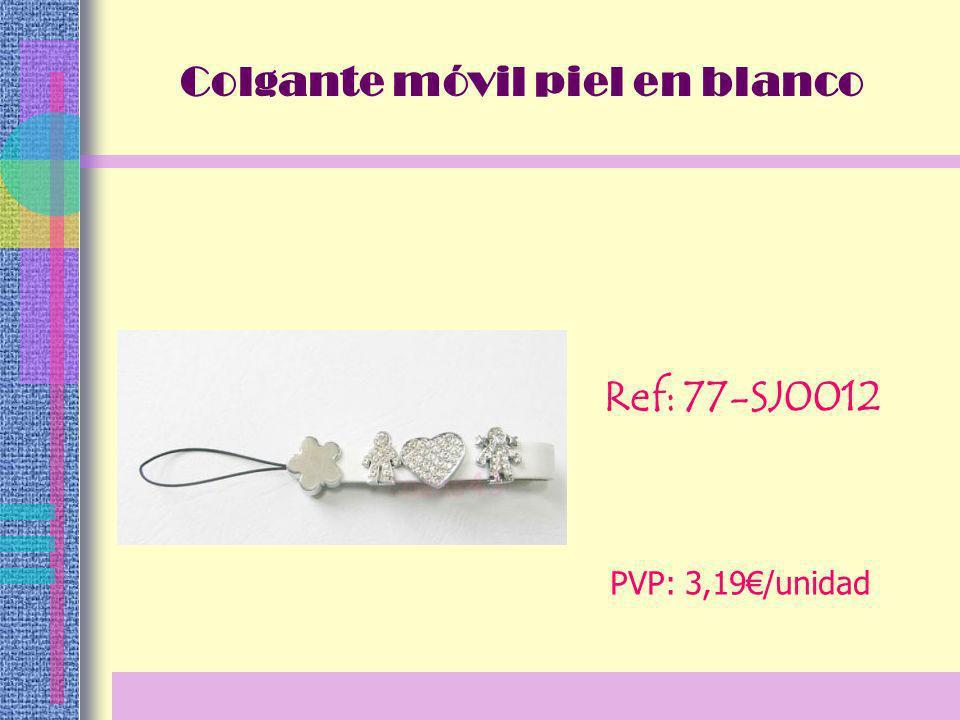 Ref: 77-SJ0012 PVP: 3,19/unidad Colgante móvil piel en blanco