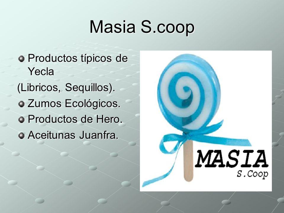 Masia S.coop Productos típicos de Yecla (Libricos, Sequillos). Zumos Ecológicos. Productos de Hero. Aceitunas Juanfra.