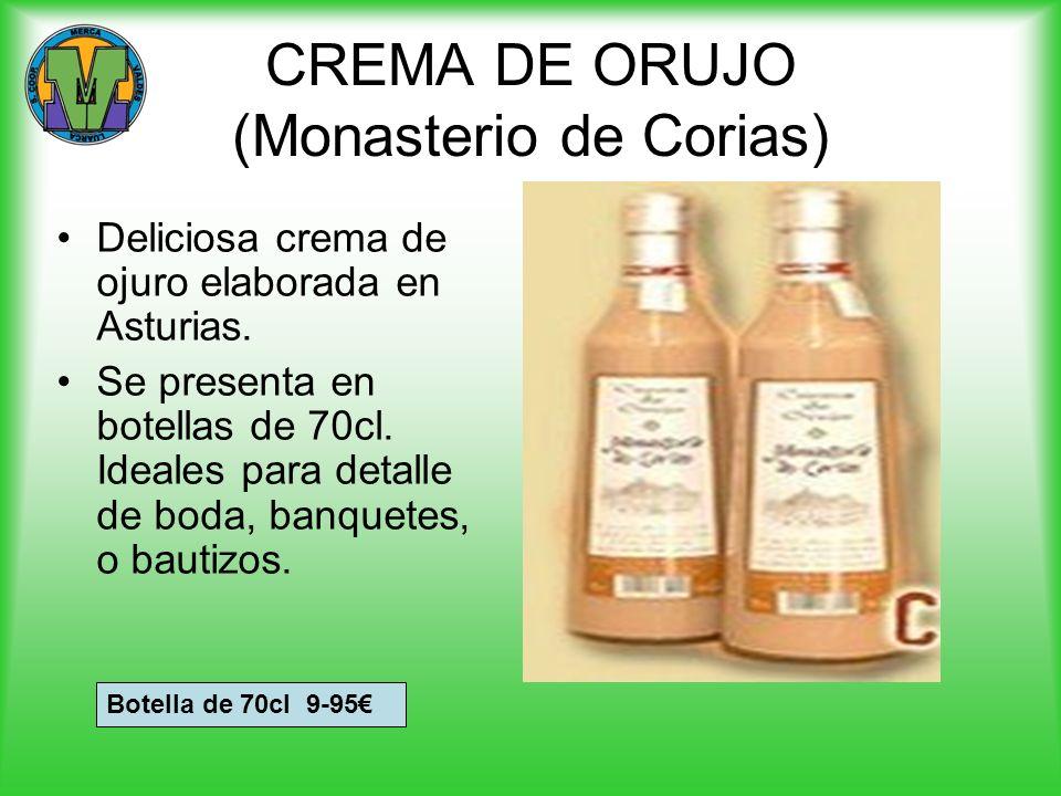 CREMA DE ORUJO (Monasterio de Corias) Deliciosa crema de ojuro elaborada en Asturias. Se presenta en botellas de 70cl. Ideales para detalle de boda, b