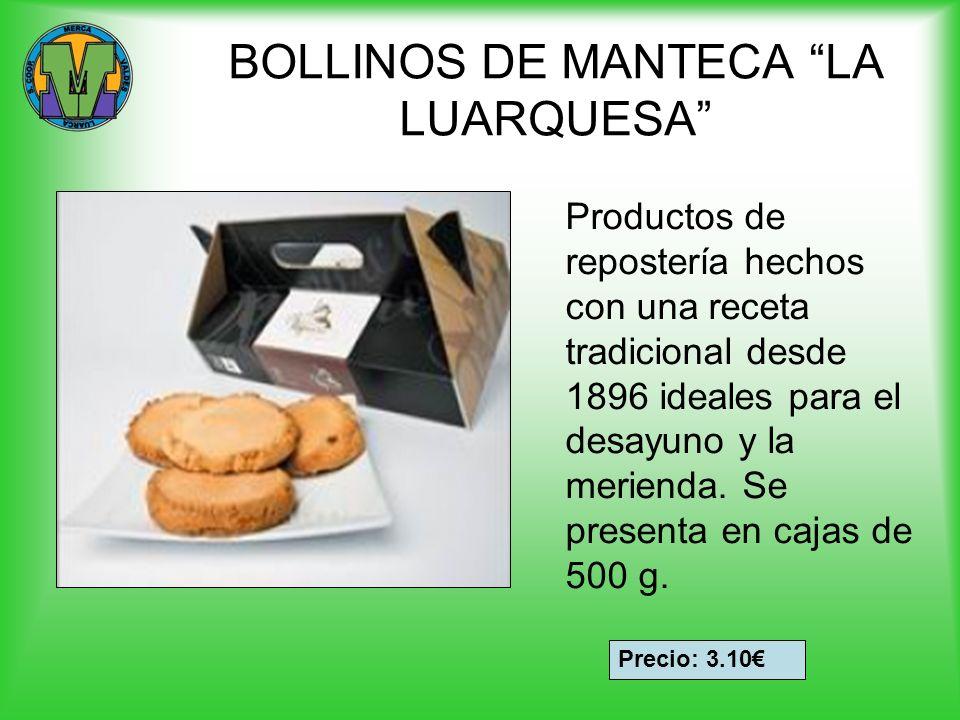 GALLETAS PARA CAFÉ LA LUARQUESA Bote de galletas de diferentes variedades: Galletinas para café (con un toque de canela) Biscuits para el café Mini rosquillas de almendra Manzaninas de Luarca Botes de 500g Precio: 5.15