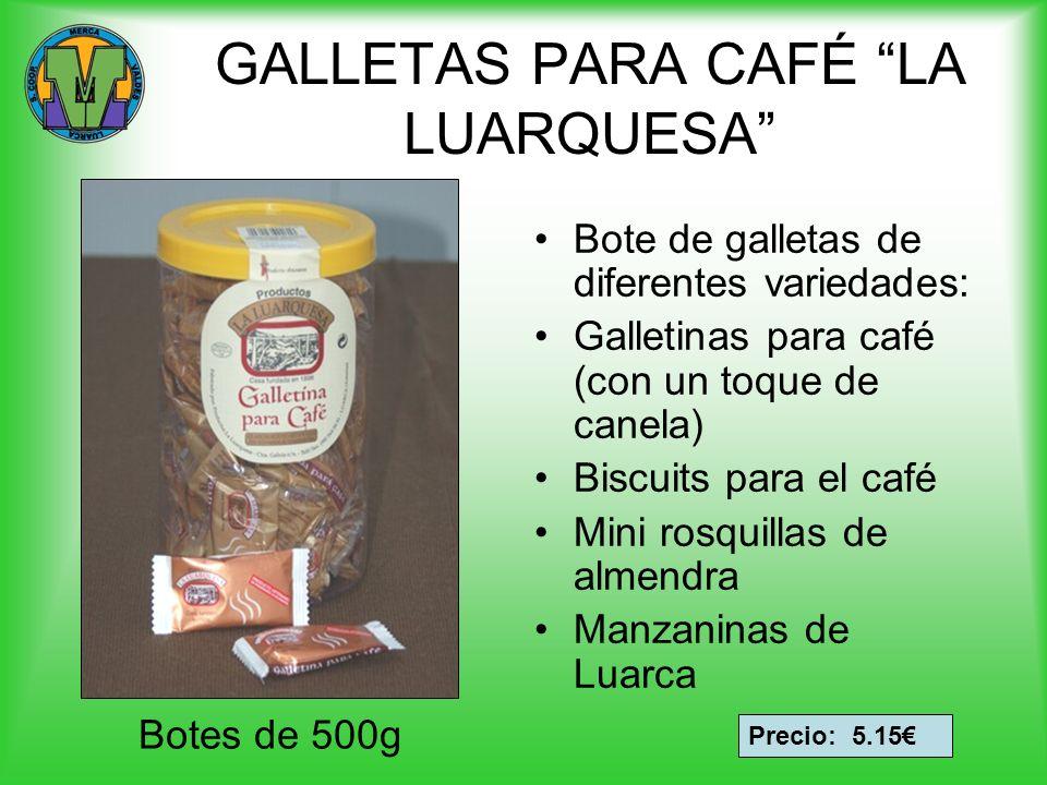 GALLETAS PARA CAFÉ LA LUARQUESA Bote de galletas de diferentes variedades: Galletinas para café (con un toque de canela) Biscuits para el café Mini ro