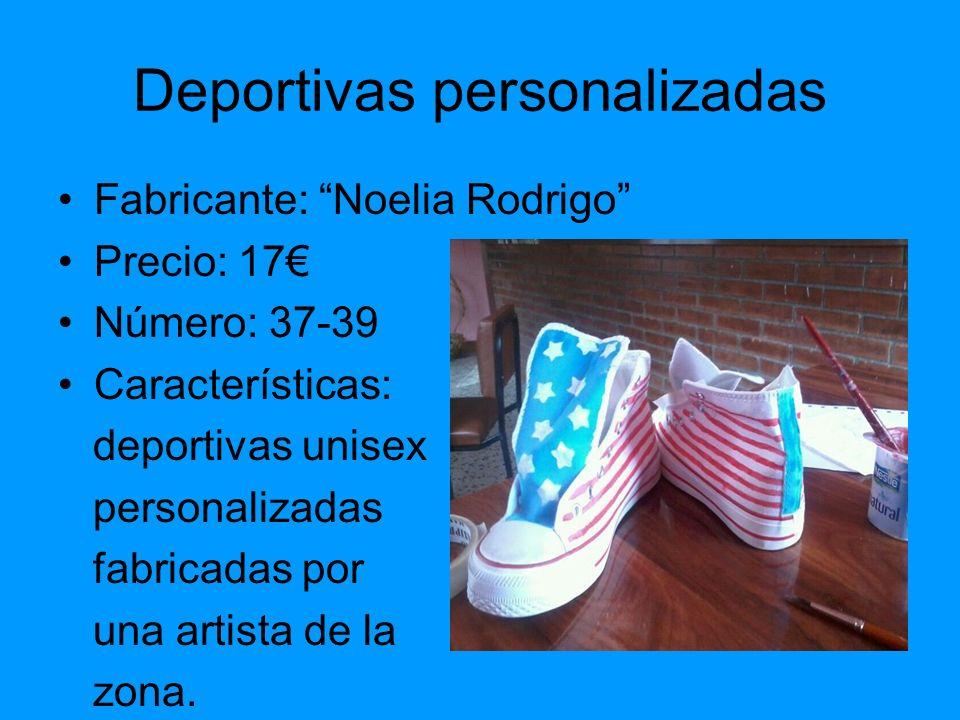 Deportivas personalizadas Fabricante: Noelia Rodrigo Precio: 17 Número: 37-39 Características: deportivas unisex personalizadas fabricadas por una art
