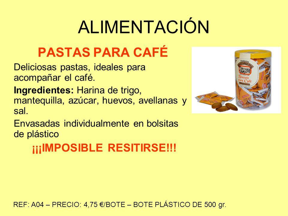 ALIMENTACIÓN MANZANINAS DE LUARCA Deliciosas pastas, ideales para acompañar el café.