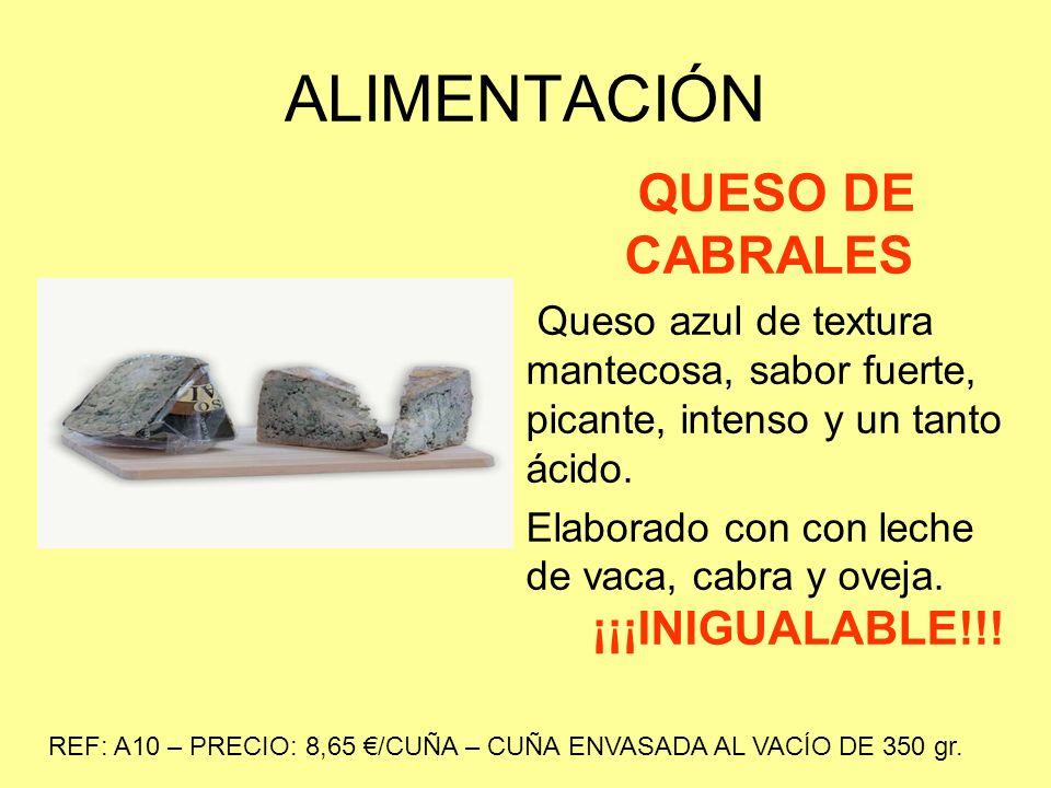 ALIMENTACIÓN CREMA DE CABRALES Deliciosa crema elaborada con Queso D.O.P.