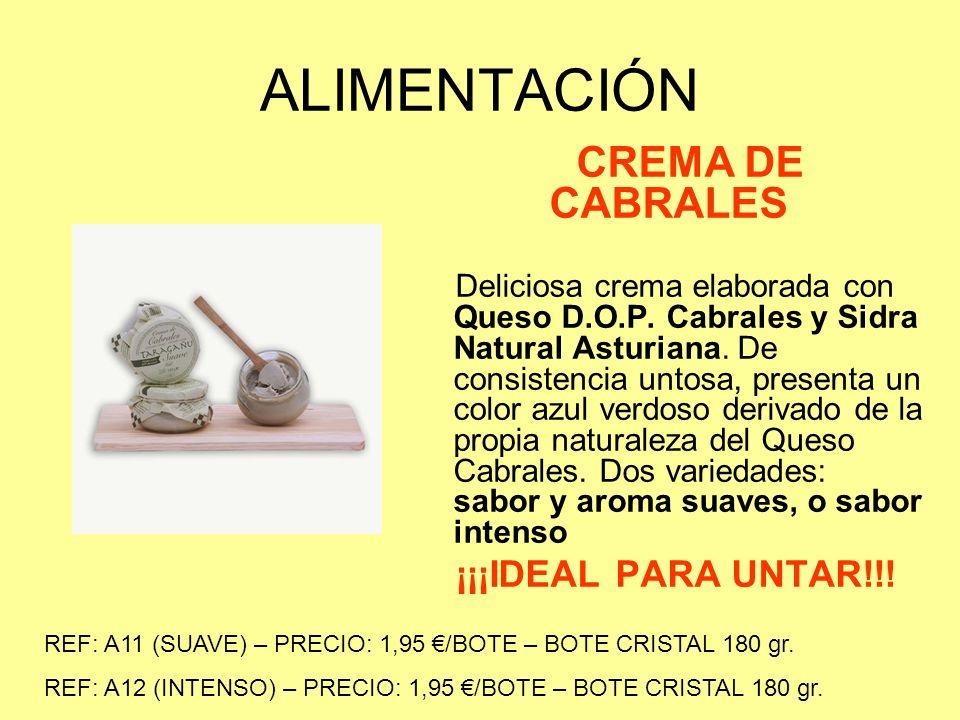 ALIMENTACIÓN PATÉS ASTURIANOS Elaborados con productos del mar y tierra.