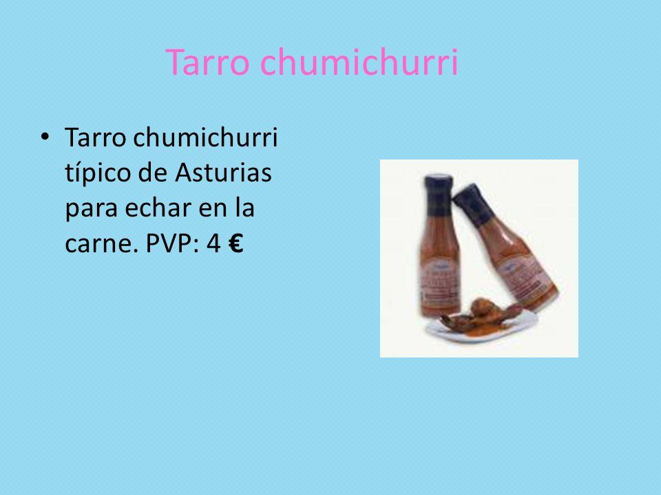 Tarro chumichurri Tarro chumichurri típico de Asturias para echar en la carne. PVP: 4