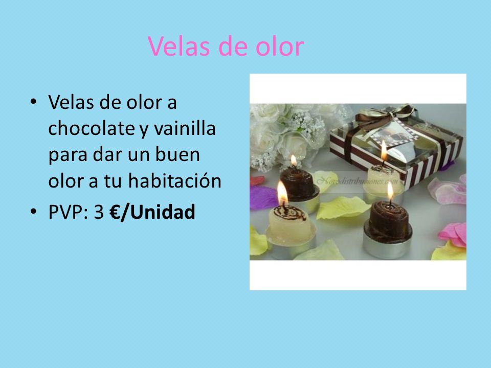Velas de olor Velas de olor a chocolate y vainilla para dar un buen olor a tu habitación PVP: 3 /Unidad
