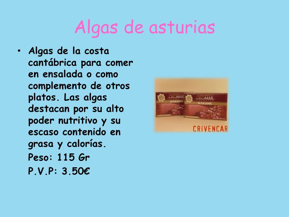 Algas de asturias Algas de la costa cantábrica para comer en ensalada o como complemento de otros platos. Las algas destacan por su alto poder nutriti